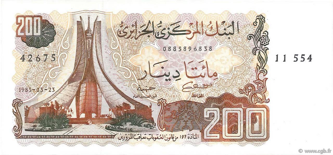 RECTO 200 dinars Type 1983