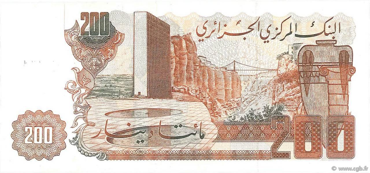 VERSO 200 dinars Type 1983