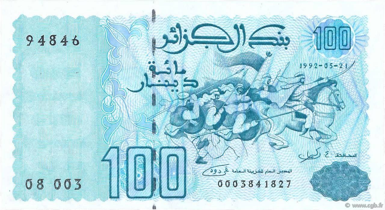 RECTO 100 dinars Type 1992