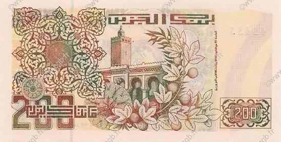 VERSO 200 dinars Type 1992