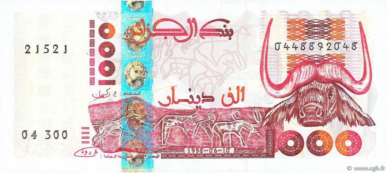 RECTO 1000 dinars Type 1998