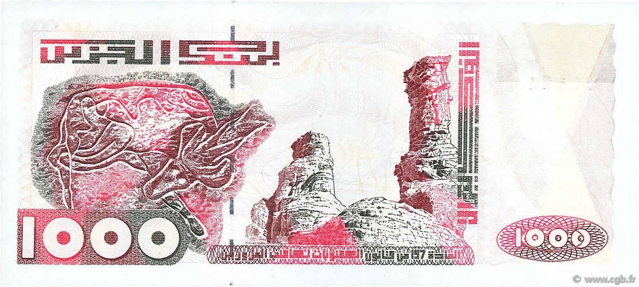 VERSO 1000 dinars Type 1998