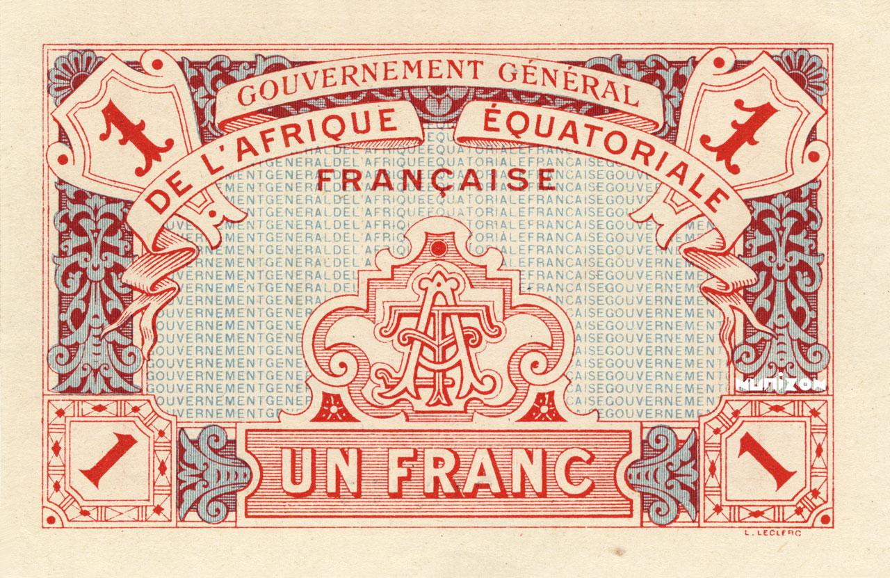VERSO 1 franc Type 1917