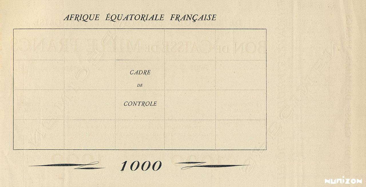 VERSO 1000 francs Type 1940