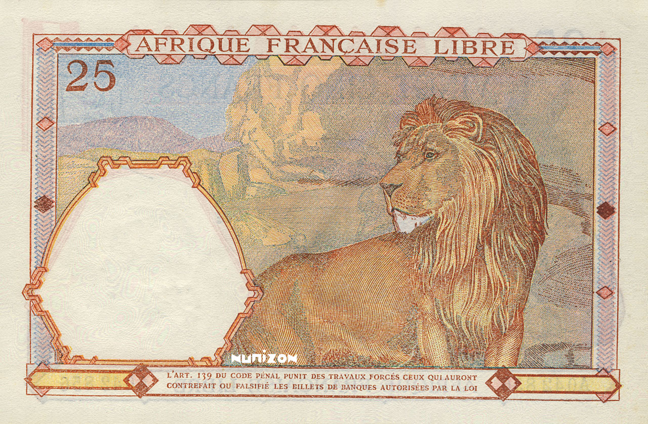 VERSO 25 francs Type 1941 AFL