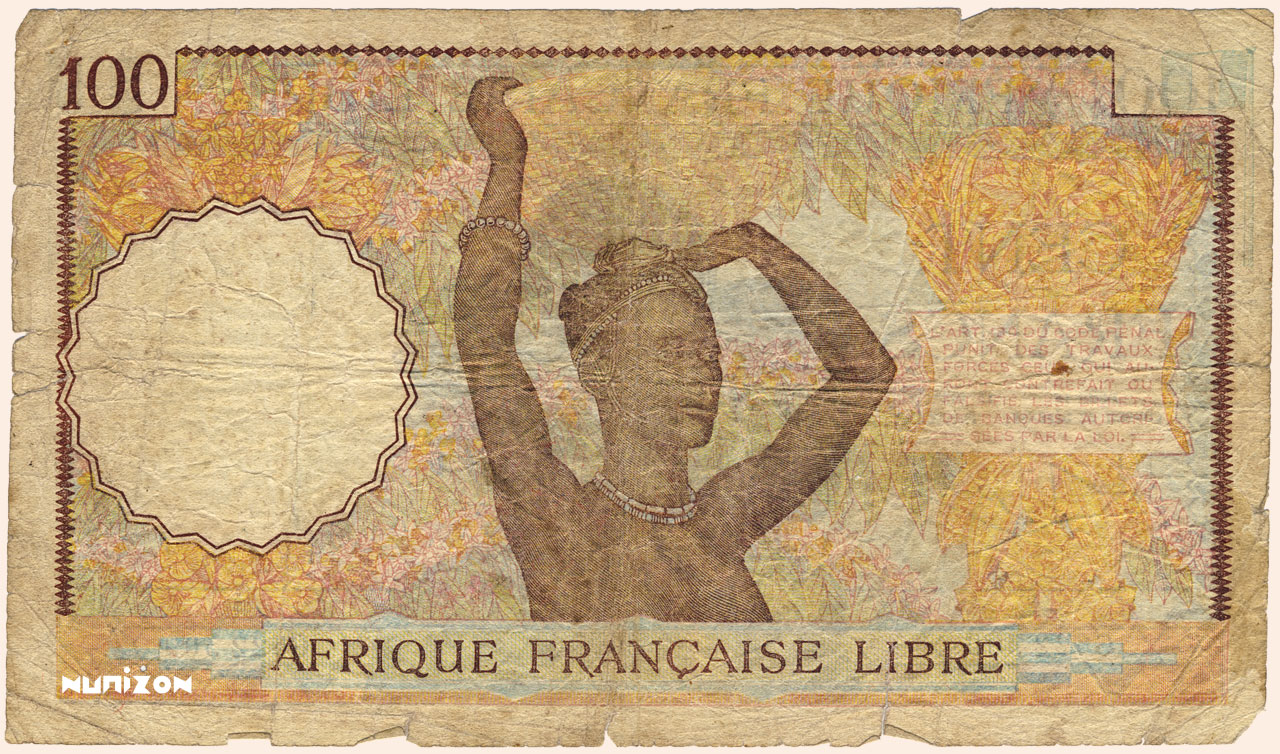 VERSO 100 francs Type 1941 AFL