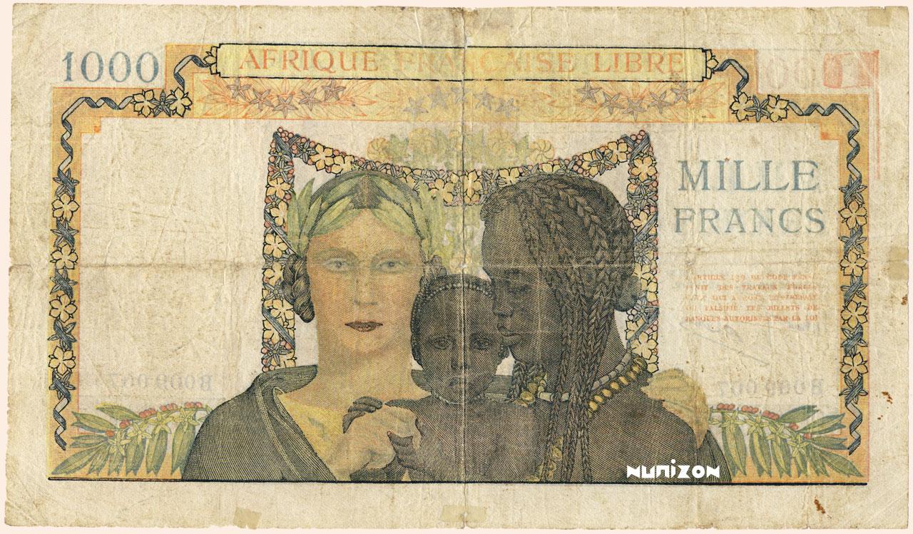 VERSO 1000 francs Type 1941 AFL