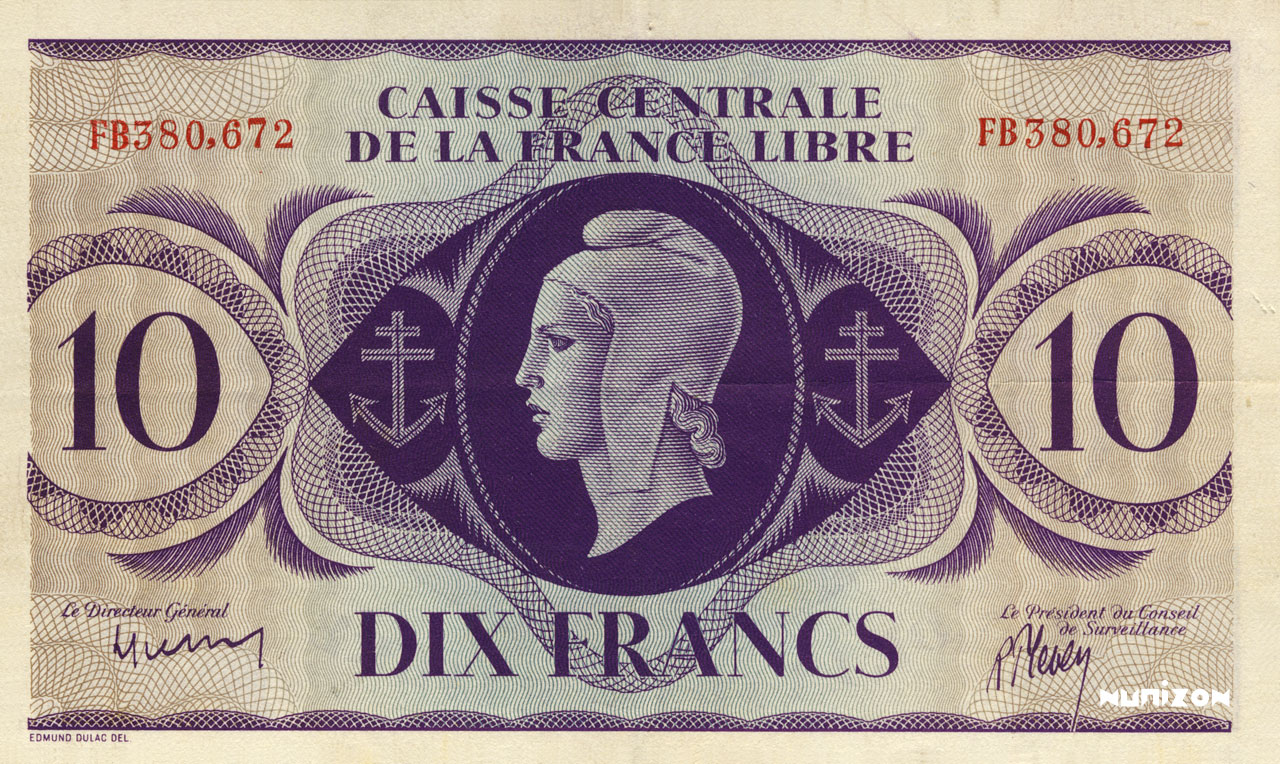 RECTO 10 francs Type 1941 CCFL