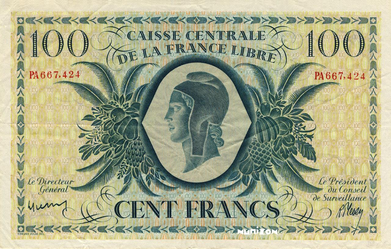 RECTO 100 francs Type 1941 CCFL