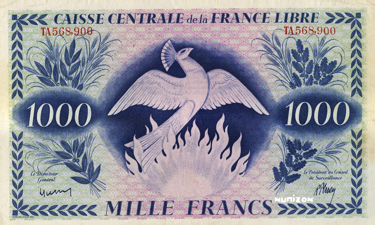 RECTO 1000 francs Phoenix Type 1941 CCFL