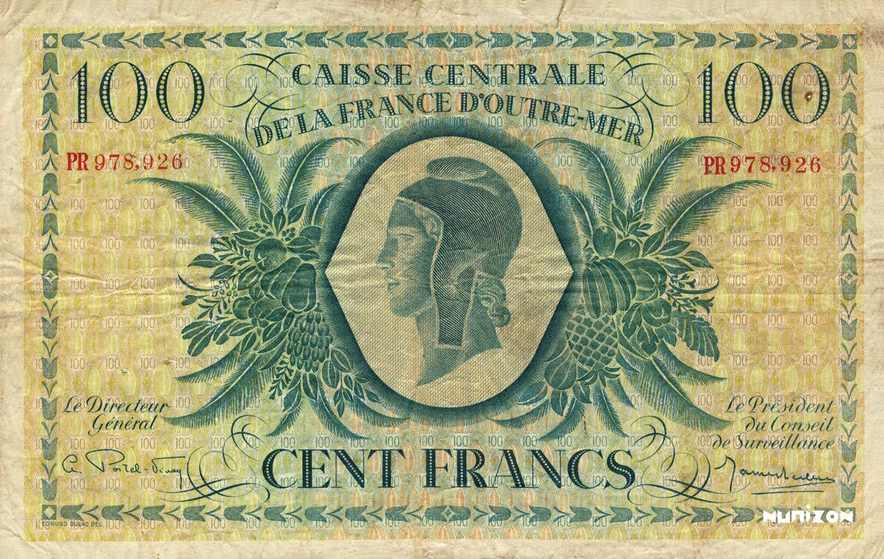 RECTO 100 francs Type 1943 CCFOM