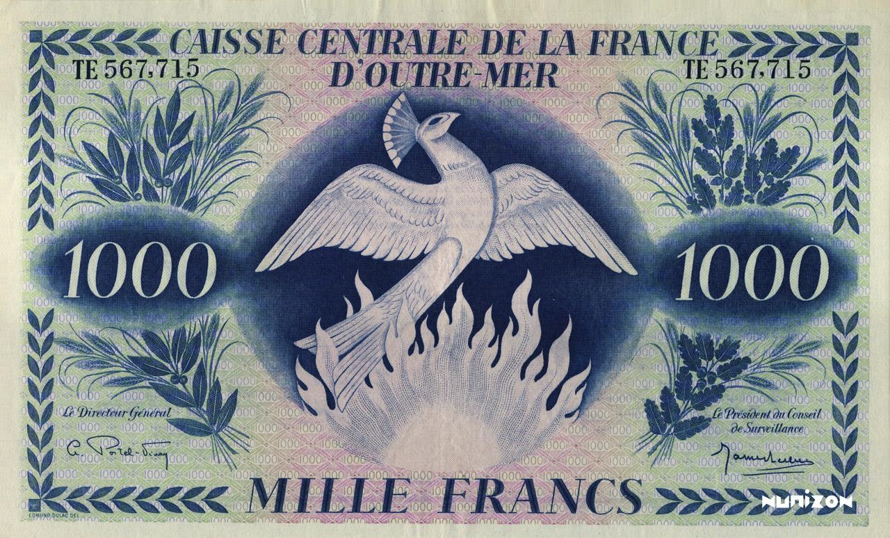 RECTO 1000 francs Type 1943 CCFOM