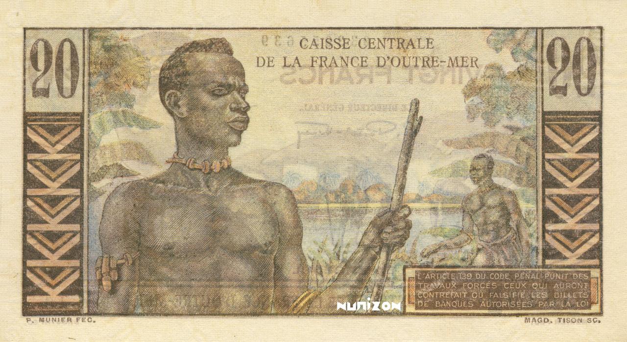 VERSO 20 francs Émile Gentil Type 1947