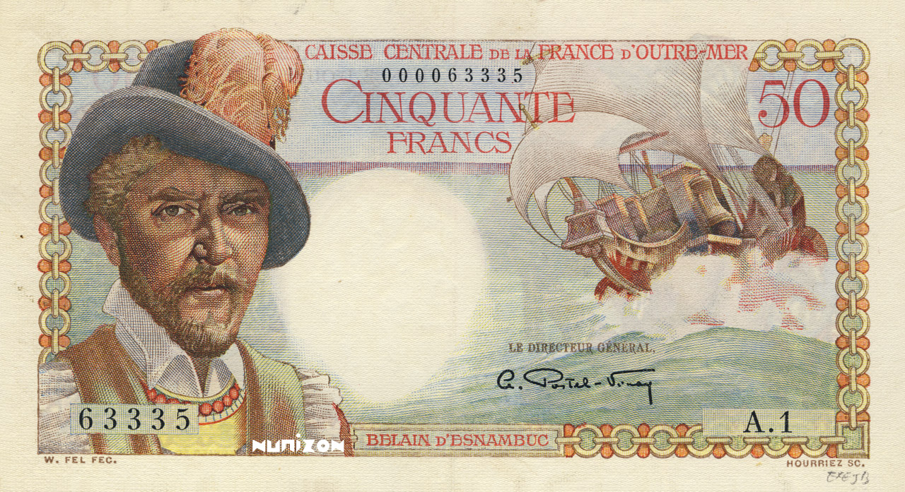 RECTO 50 francs Belain d'Esnambuc Type 1947