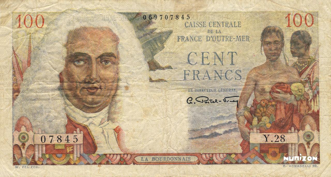RECTO 100 francs La Bourdonnais Type 1947