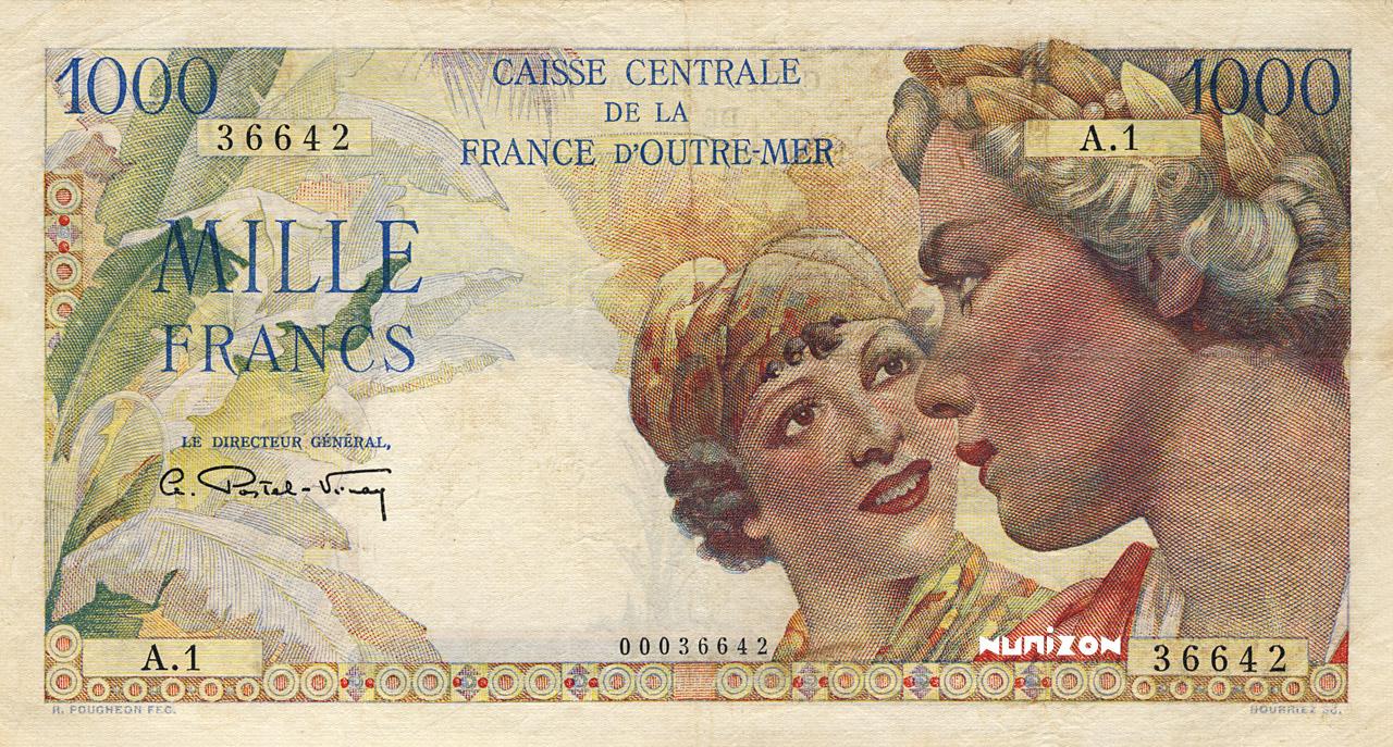 RECTO 1000 francs Union française Type 1947