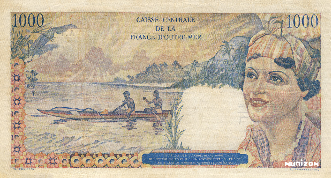 VERSO 1000 francs Union française Type 1947