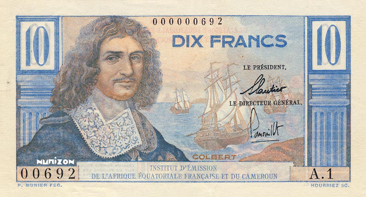 RECTO 10 francs Colbert Type 1957