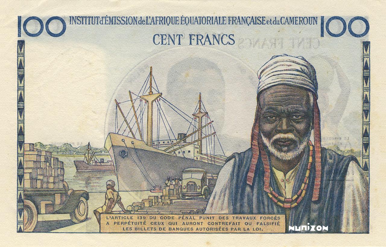 VERSO 100 francs Type 1957