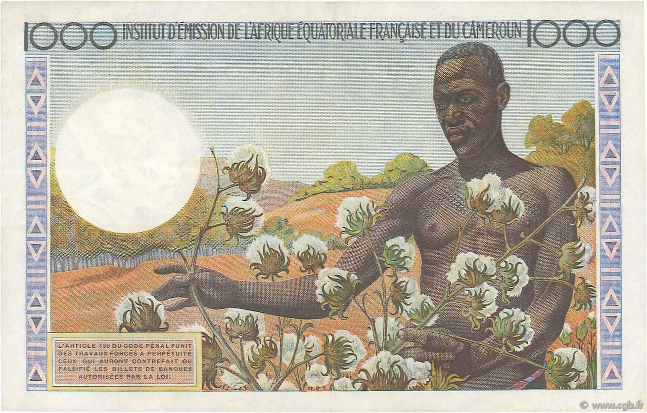VERSO 1000 francs Type 1957