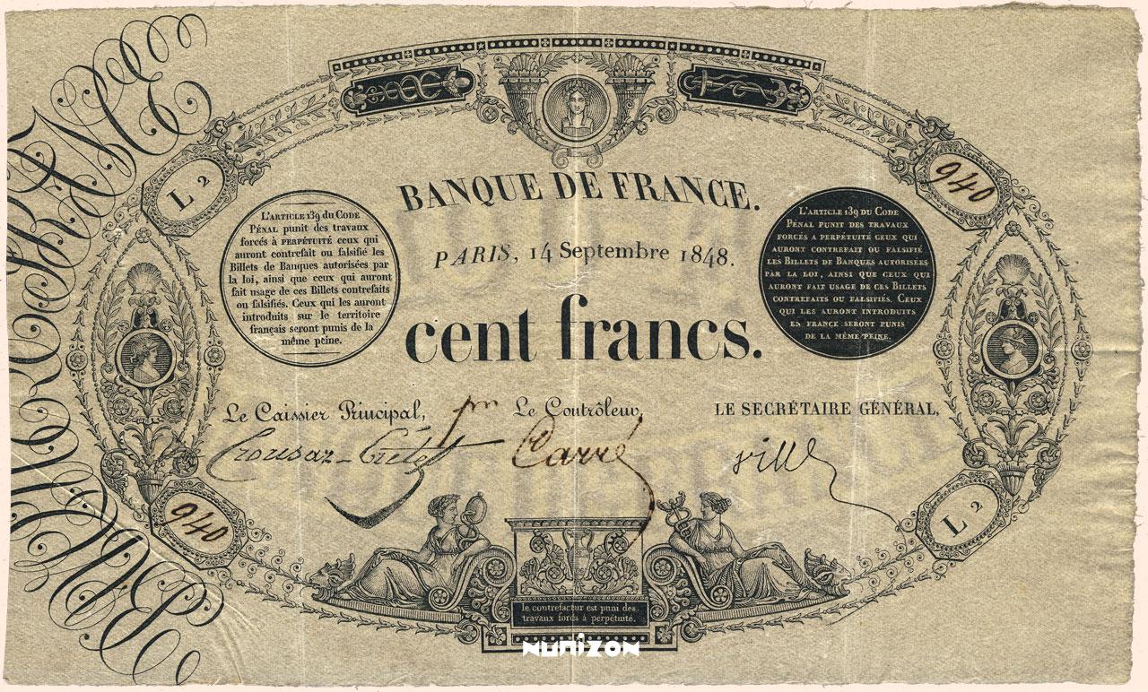 100 francs - Type 1848 Pick##45