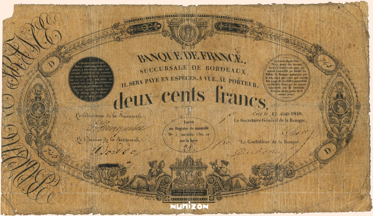 200 francs - Type 1847 Pick##46