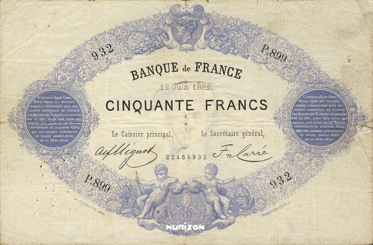 50 francs - Type 1868 - Indices Noirs Pick##51