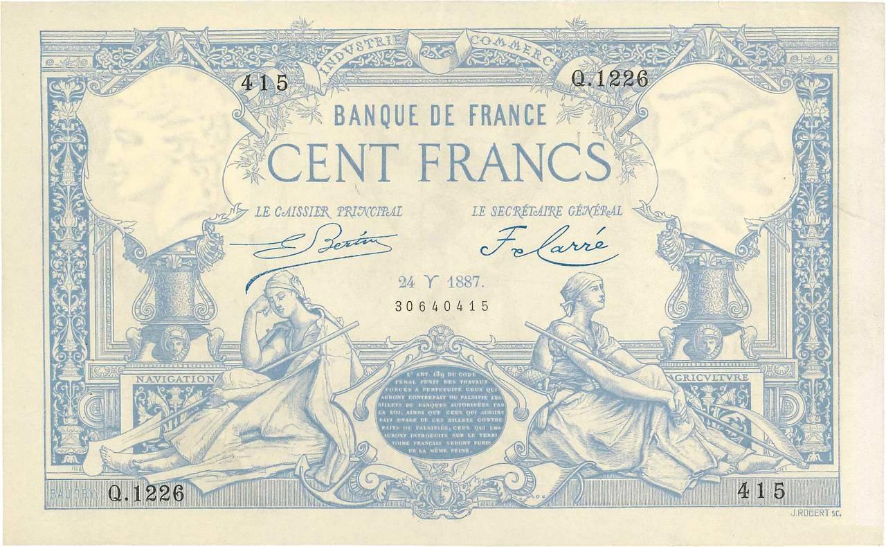 100 francs - Type 1882 Pick##63