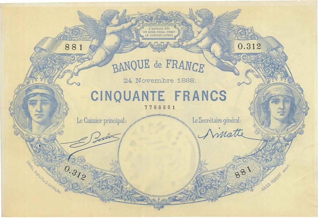50 francs - Type 1884 Pick##62