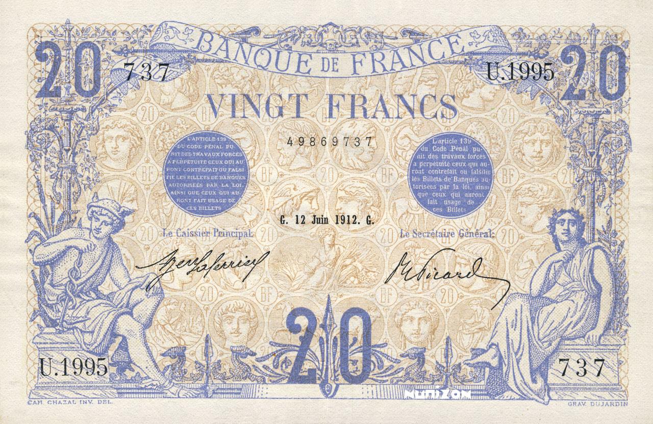 20 francs - Bleu Pick##68