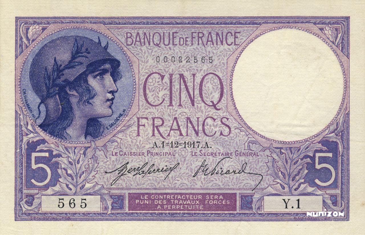 5 francs - Violet Pick##72/#83