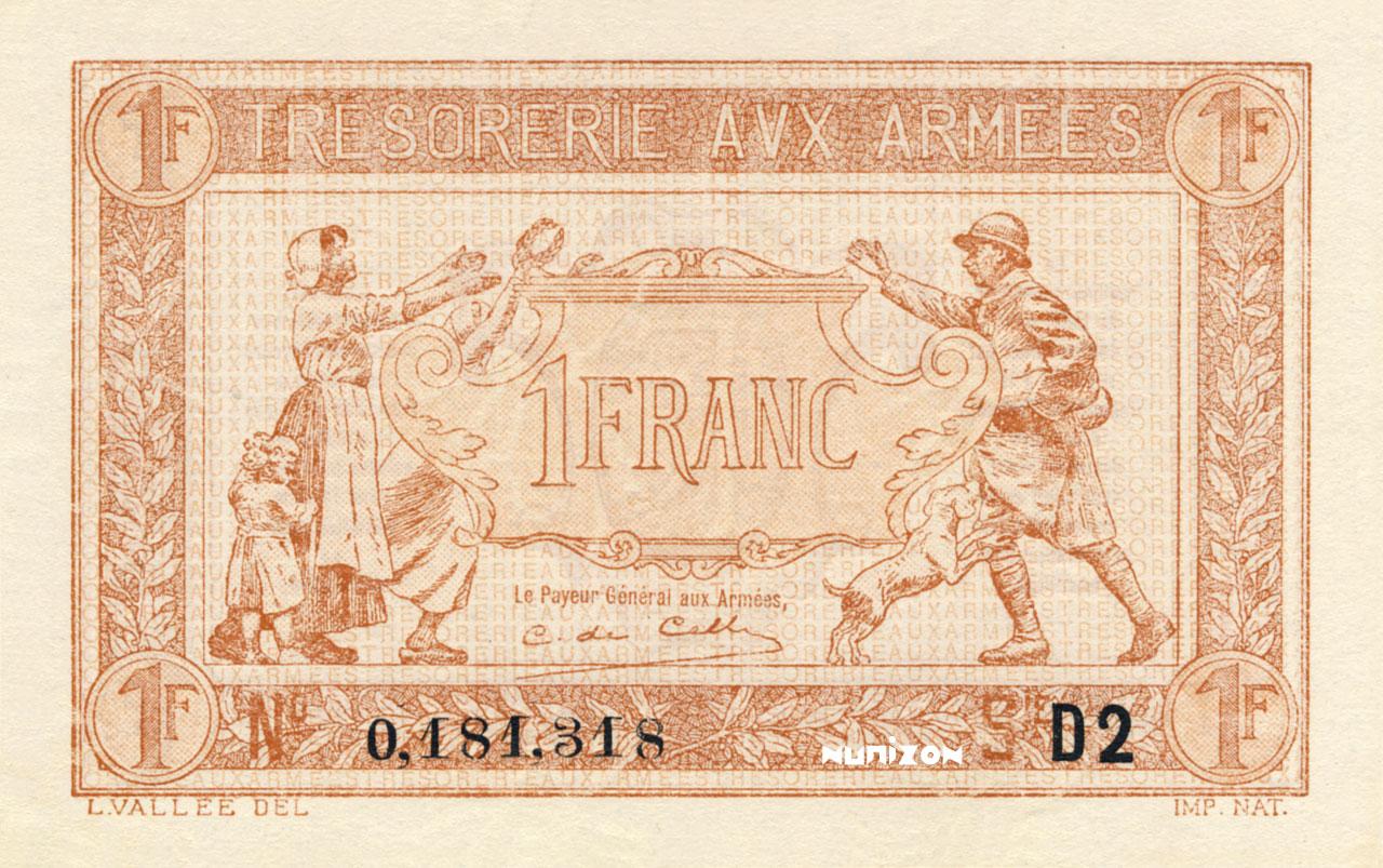 1 franc Trésorerie aux Armées Pick##M2/#M5