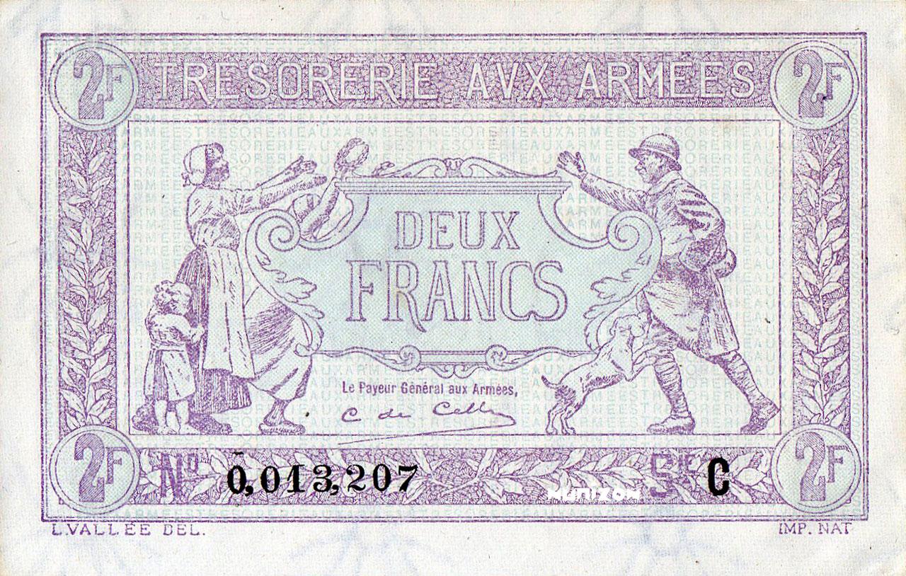 2 francs Trésorerie aux Armées Pick##M3