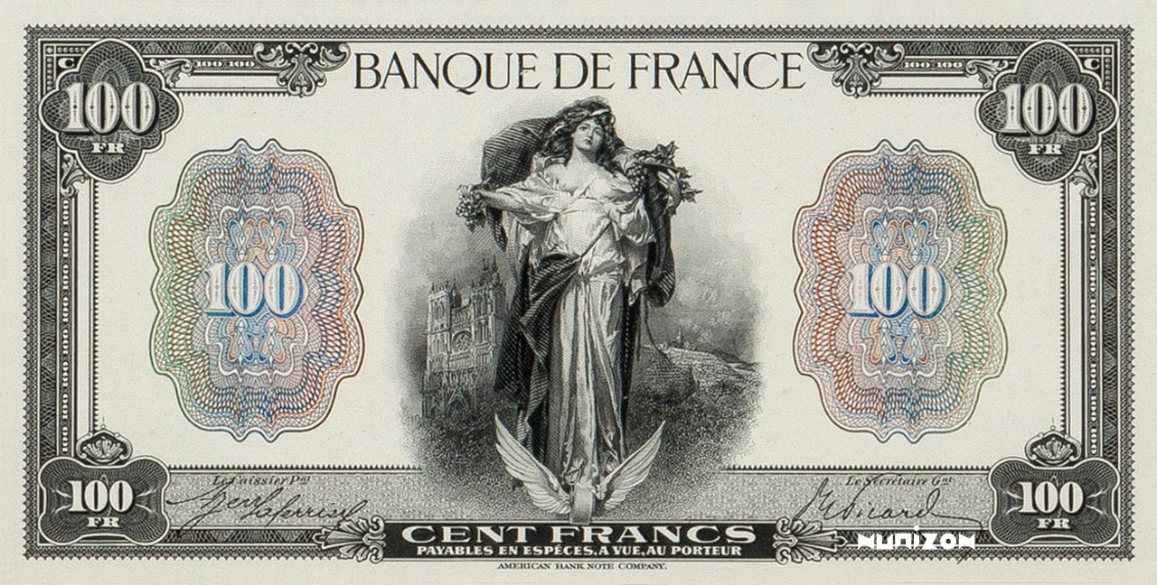 "100 francs Type 1918 La Fortune ""essai"" Pick##75"