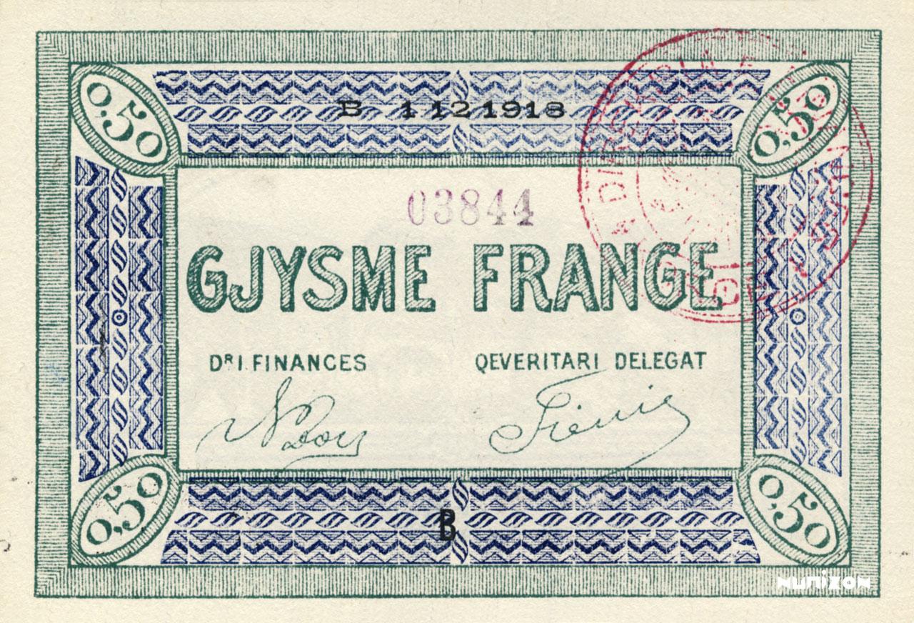 0,50 franc Korçë 1918 Pick##147/149/151