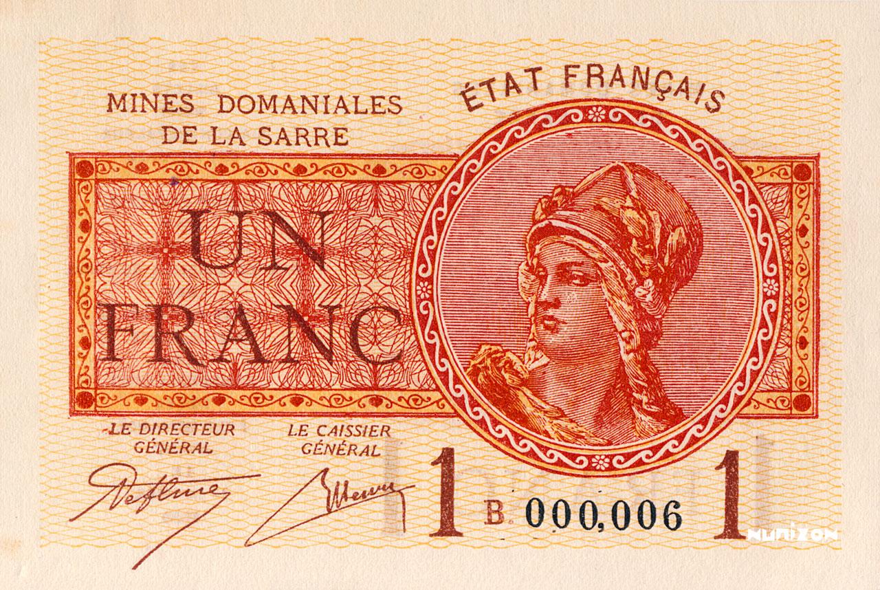 1 franc 1920 Pick##02