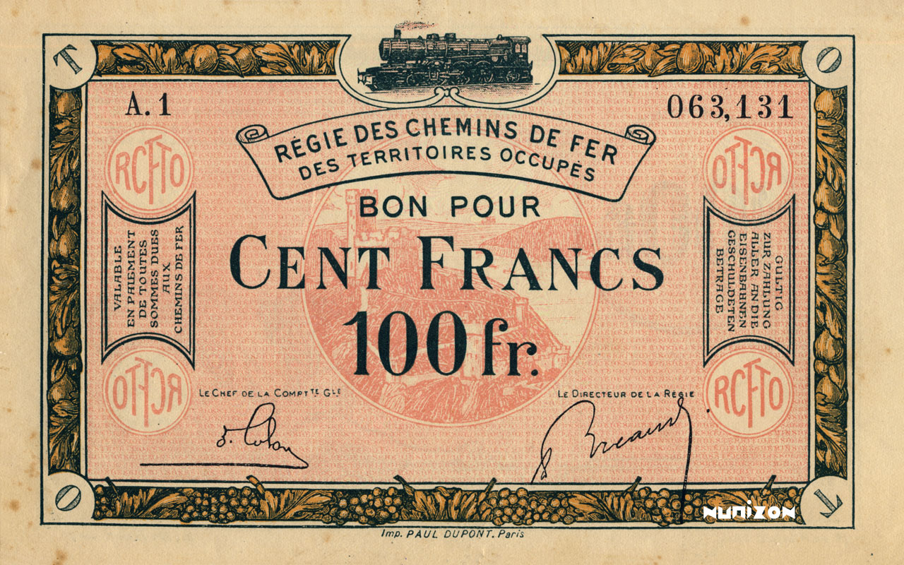 100 francs 1923 Pick##R10