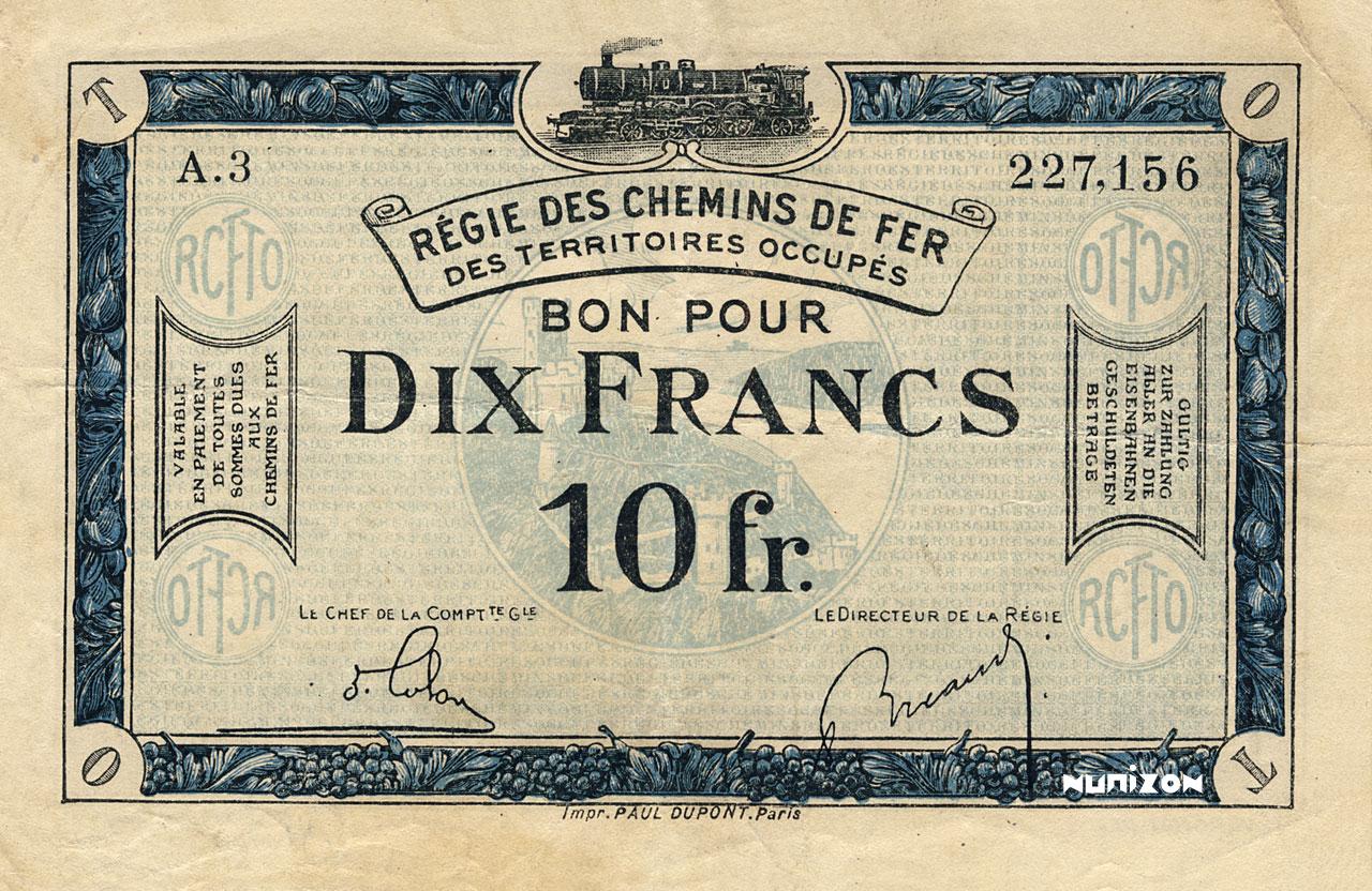 10 francs 1923 Pick##R7