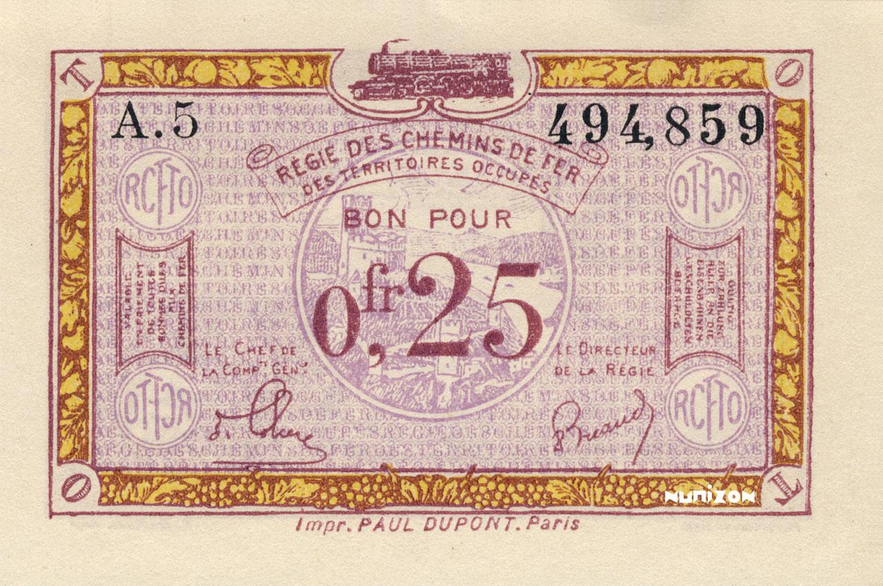 25 centimes 1923 Pick##R3