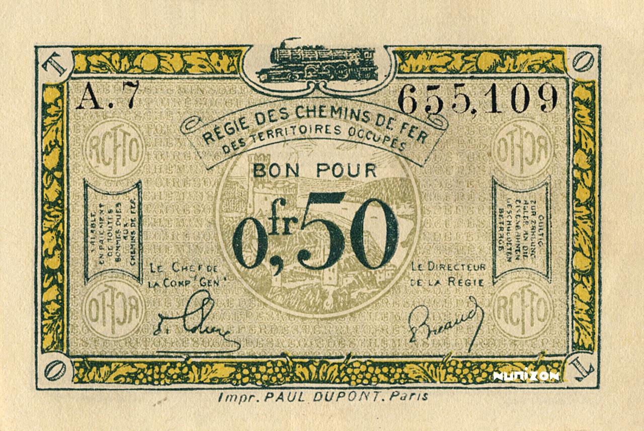 50 centimes 1923 Pick##R4
