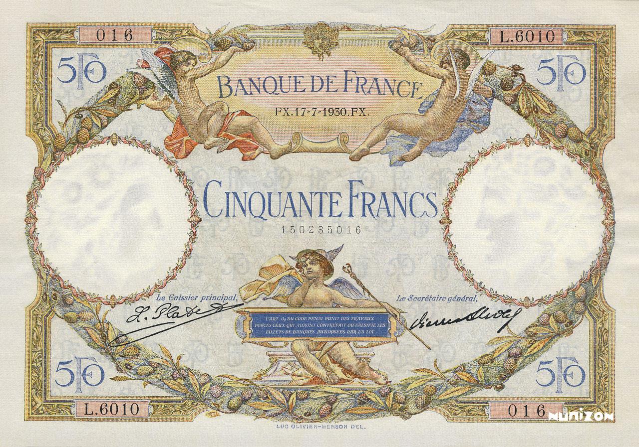 50 francs - Luc Olivier Merson Pick##77/#80