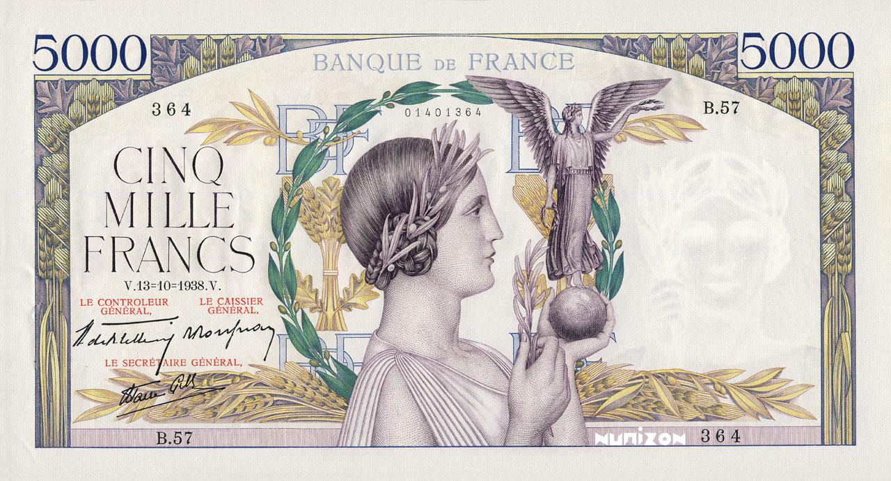 5000 francs - Victoire Pick##82/#91/#97