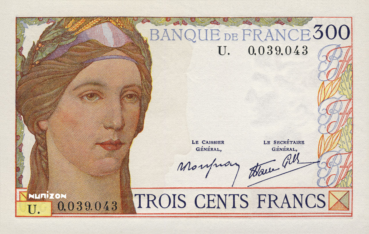 300 francs Type 1938 Cérès Pick##87