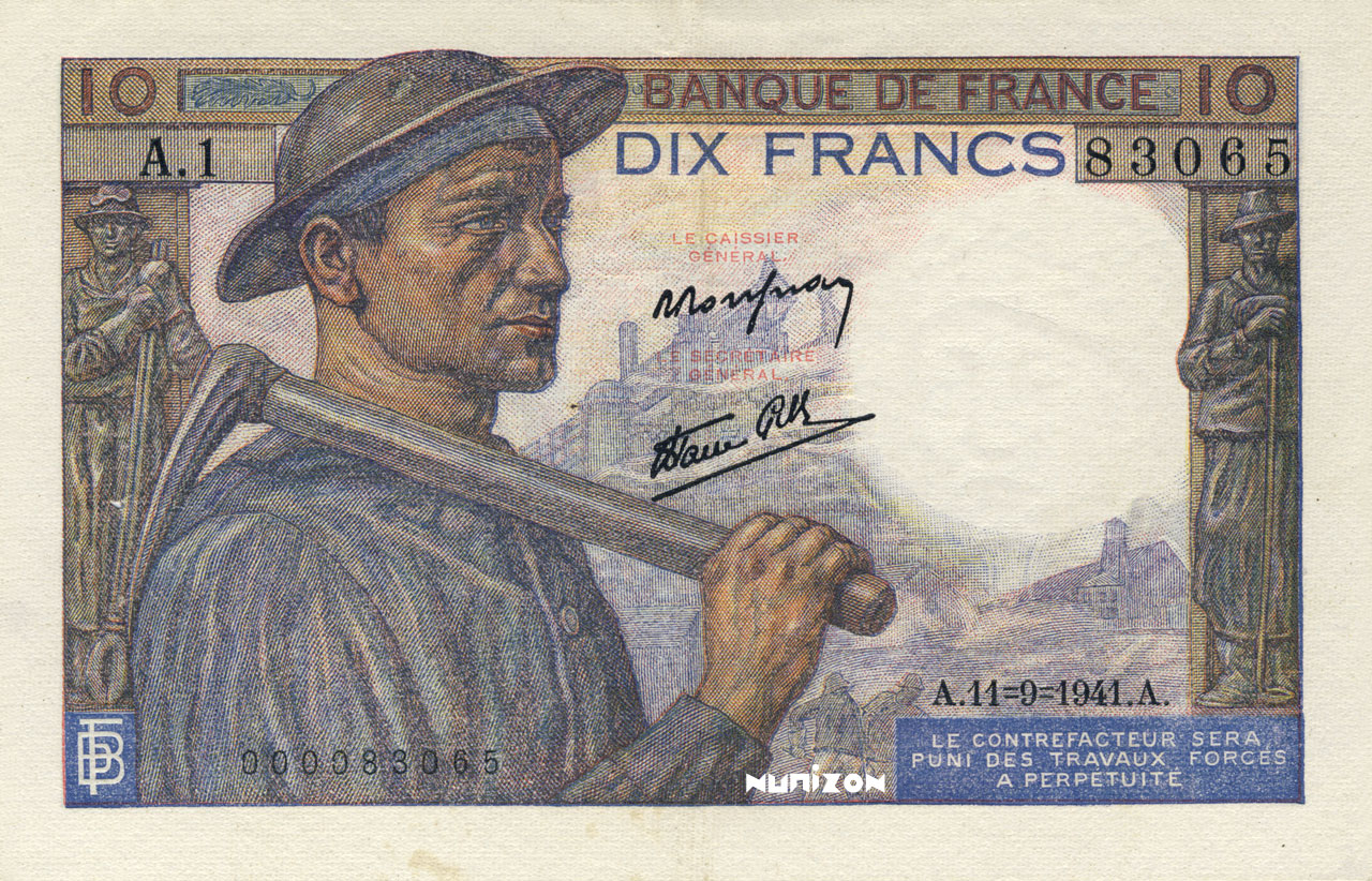 10 francs Type 1941 Mineur Pick##99