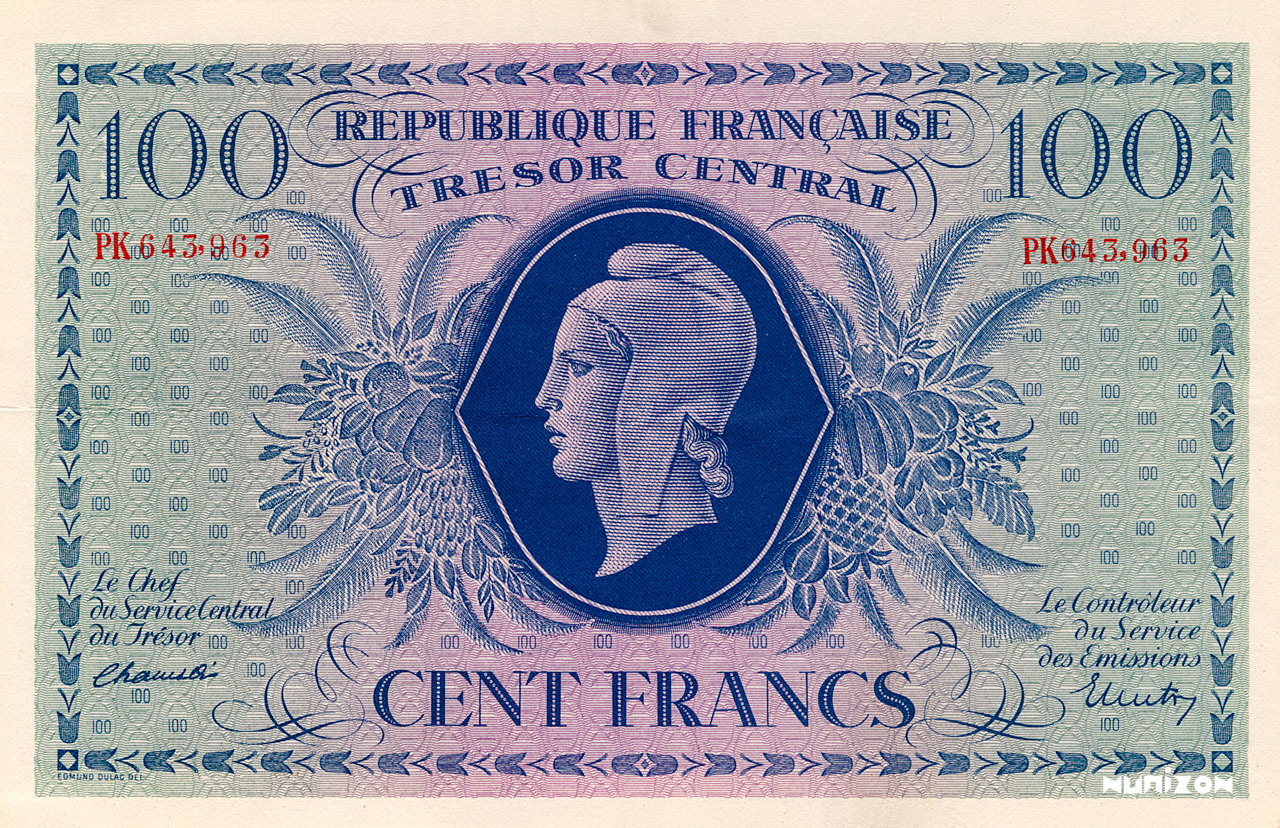 100 francs Marianne 1943 Pick##105
