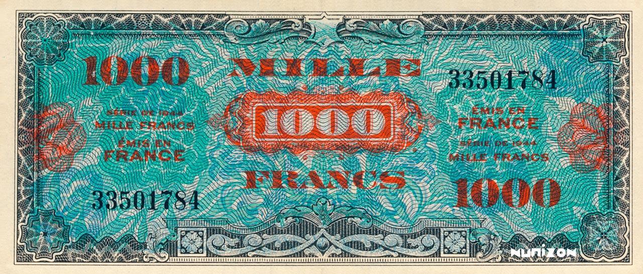 1000 francs Drapeau 1944 Pick##120