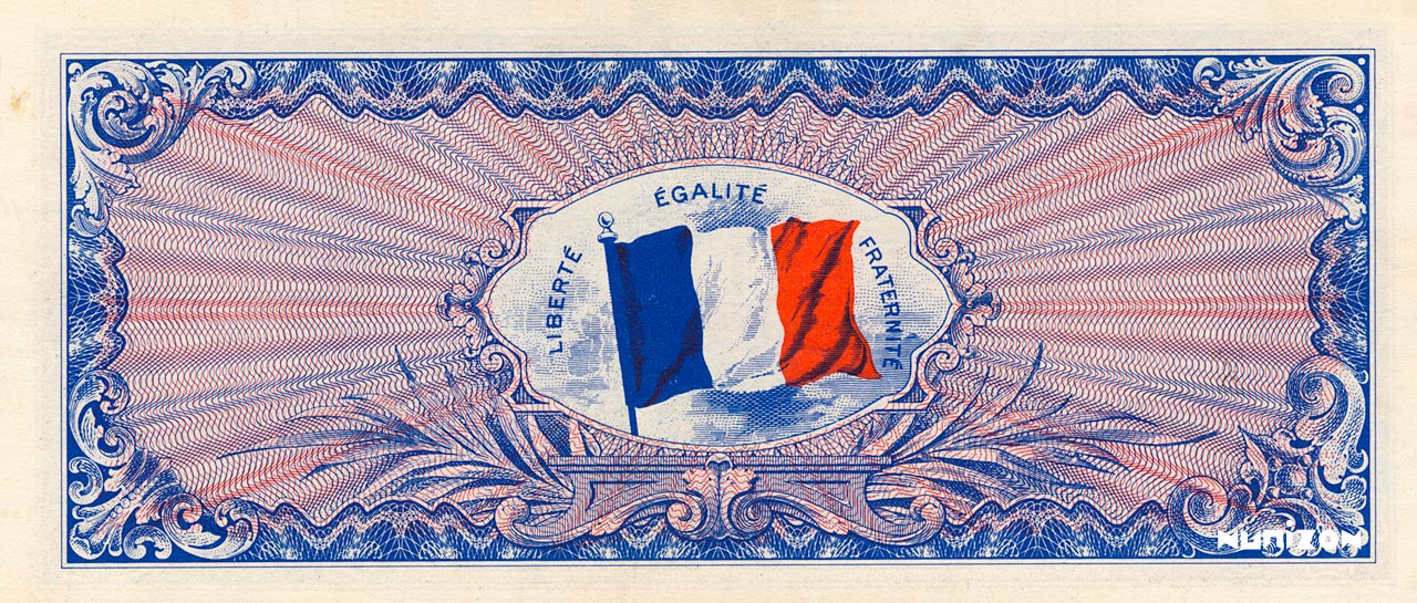VERSO 100 francs Flag back Type 1944