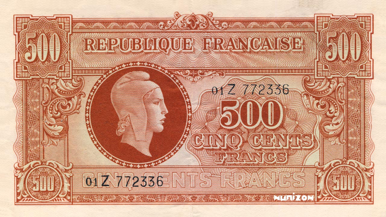 500 francs Marianne 1945 Pick##106