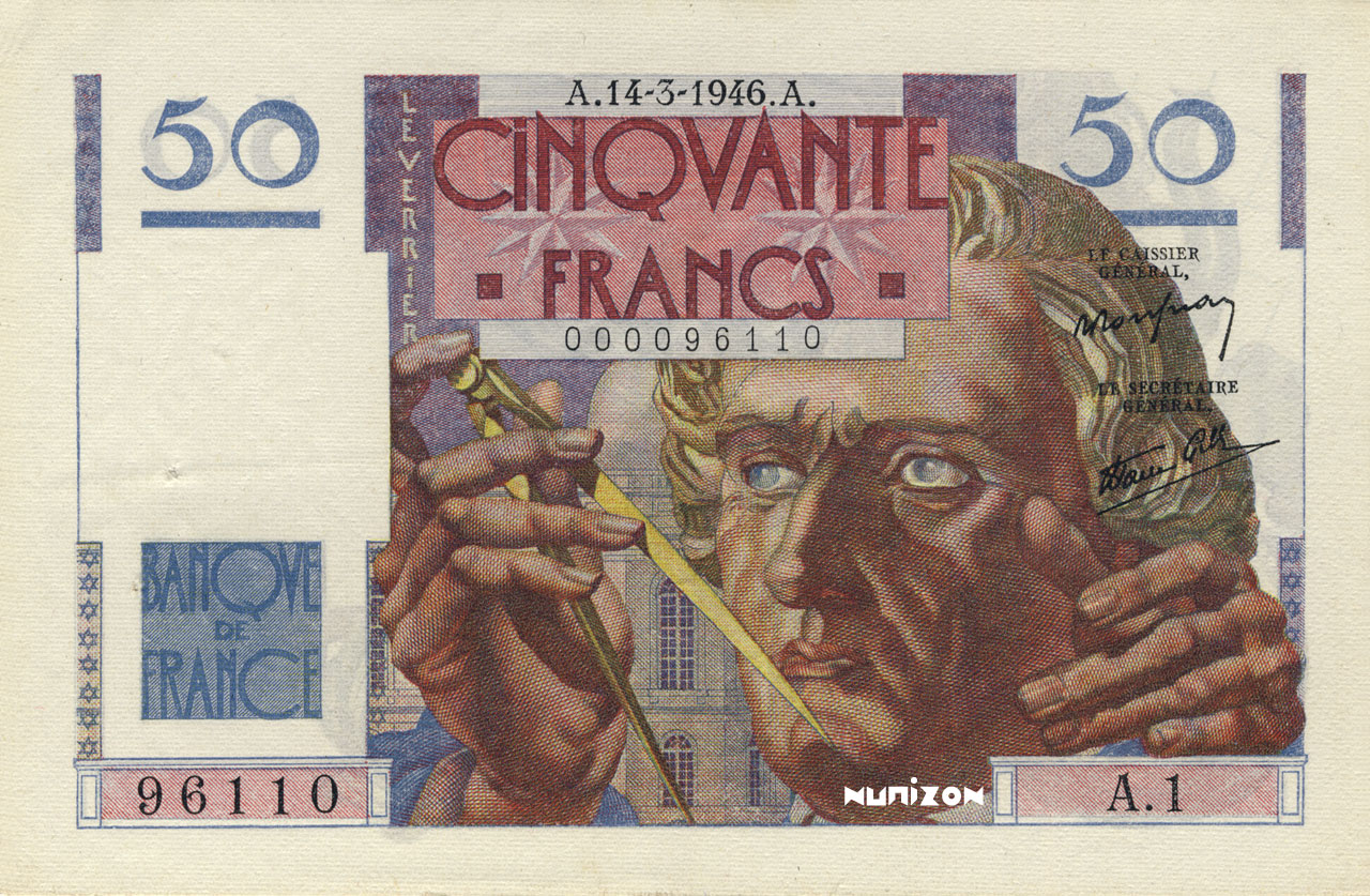 50 francs Type 1946 Le Verrier Pick##127