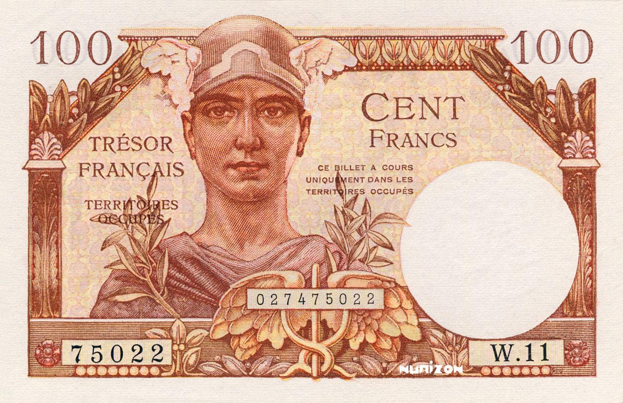 100 francs Trésor Français 1947 Pick##M9